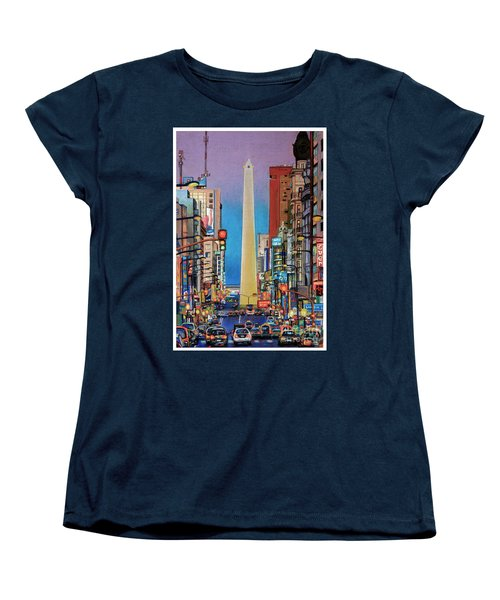 Corrientes Avenue Women's T-Shirt (Standard Cut) by Bernardo Galmarini