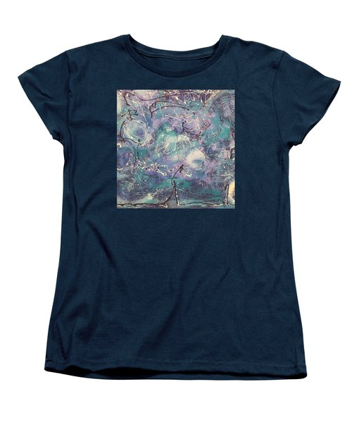 Cosmic Abstract Women's T-Shirt (Standard Cut) by Gallery Messina