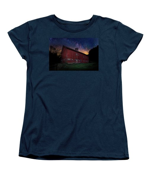 Women's T-Shirt (Standard Cut) featuring the photograph Cosmic Barn by Bill Wakeley