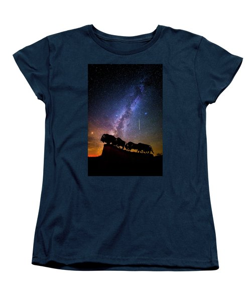 Women's T-Shirt (Standard Cut) featuring the photograph Cosmic Caprock by Stephen Stookey