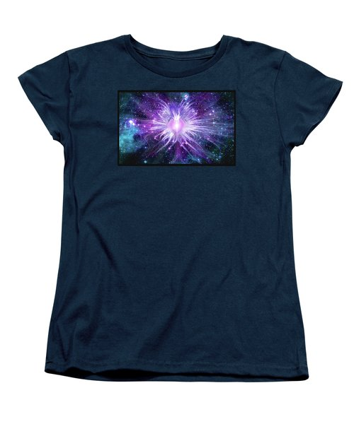 Cosmic Heart Of The Universe Mosaic Women's T-Shirt (Standard Cut) by Shawn Dall