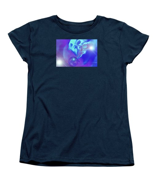 Women's T-Shirt (Standard Cut) featuring the digital art Cosmic Wave by Ute Posegga-Rudel
