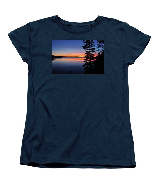 Cottage Sunset Women's T-Shirt (Standard Cut) by Keith Armstrong