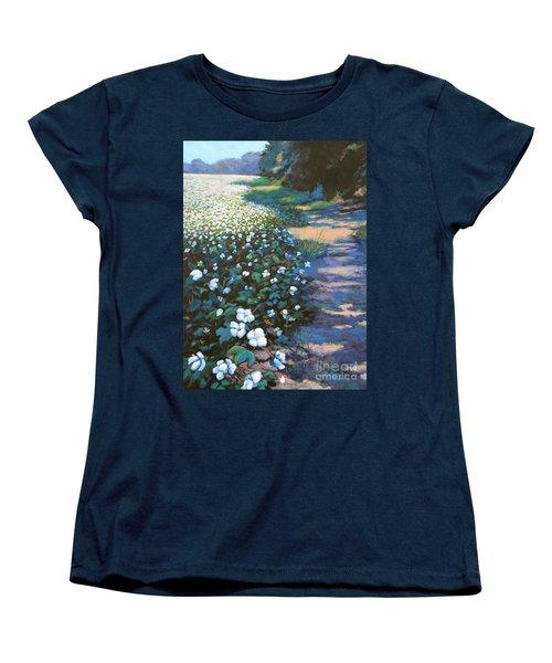 Cotton Field Women's T-Shirt (Standard Cut) by Jeanette Jarmon