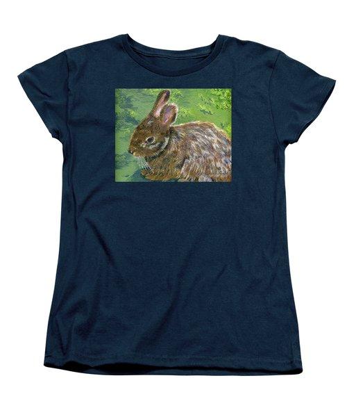 Cottontail Women's T-Shirt (Standard Cut) by Lynne Reichhart