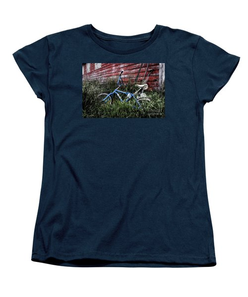 Women's T-Shirt (Standard Cut) featuring the photograph Country Bicycle by Brad Allen Fine Art