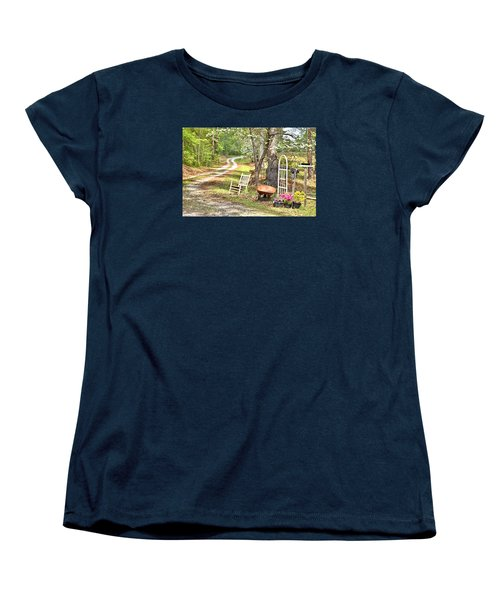 Women's T-Shirt (Standard Cut) featuring the photograph Country Driveway In Springtime by Gordon Elwell