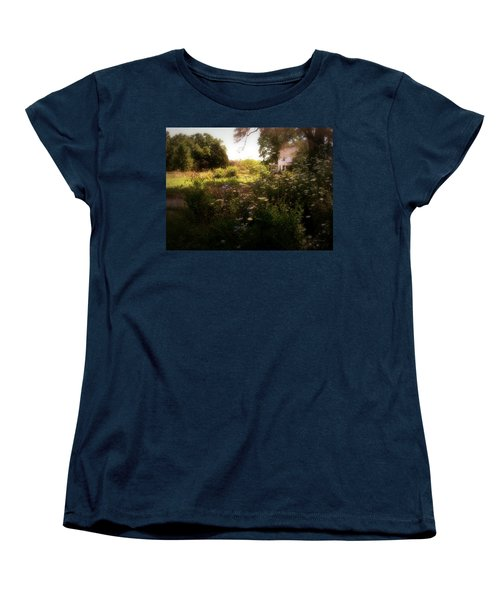 Women's T-Shirt (Standard Cut) featuring the photograph Country House by Cynthia Lassiter