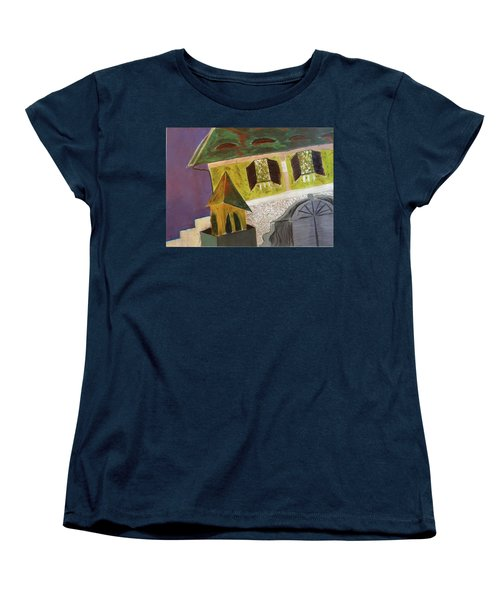 Women's T-Shirt (Standard Cut) featuring the pastel Country House by Manuela Constantin