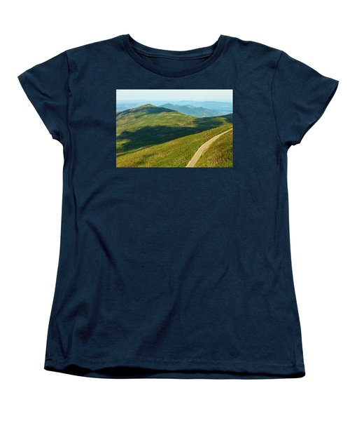 Women's T-Shirt (Standard Cut) featuring the photograph Country Road To My Home Whiteface Mountain New York by Paul Ge