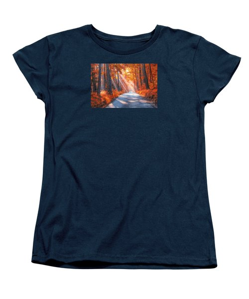 Country Roads Women's T-Shirt (Standard Cut) by Geraldine DeBoer