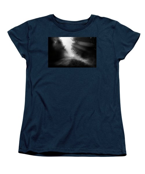 Women's T-Shirt (Standard Cut) featuring the photograph Country Trails by Dan Jurak