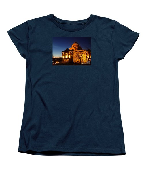 Women's T-Shirt (Standard Cut) featuring the photograph Courthouse At Night by Christina Verdgeline