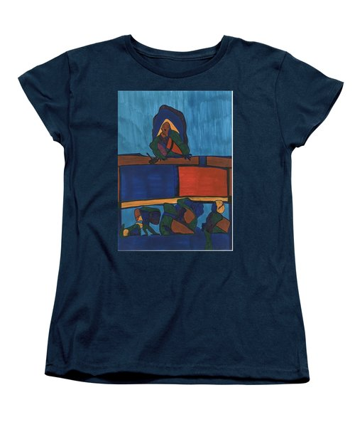 Courtroom  Women's T-Shirt (Standard Cut) by Darrell Black