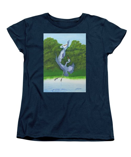 Courtship Dance Women's T-Shirt (Standard Cut) by Mike Robles