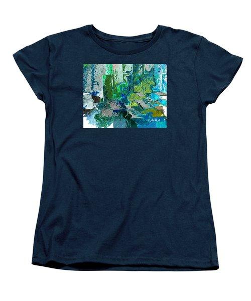 Courtyard Women's T-Shirt (Standard Cut) by Alika Kumar
