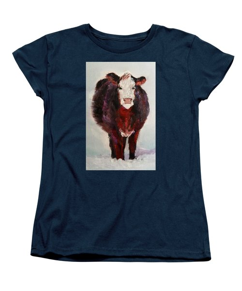 Cow Painting  Women's T-Shirt (Standard Cut) by Michele Carter