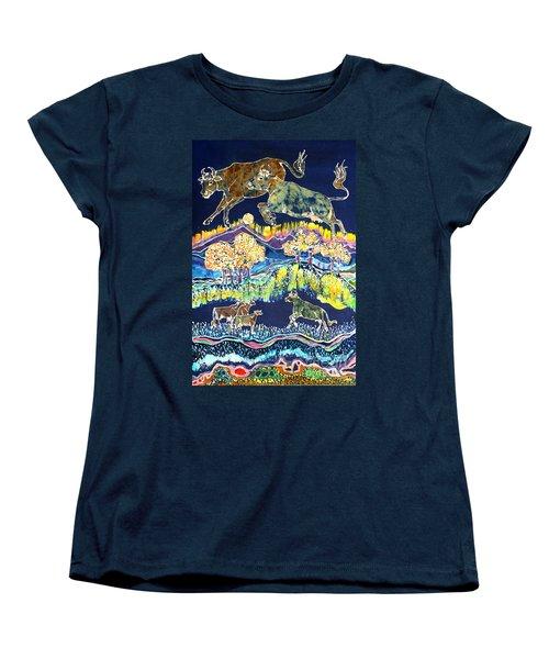 Cows Jumping Over The Moon Women's T-Shirt (Standard Cut)