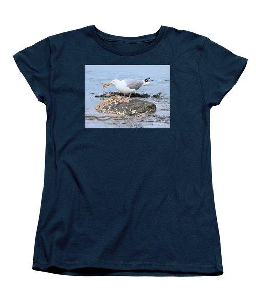 Crab Legs Women's T-Shirt (Standard Cut) by Debbie Stahre
