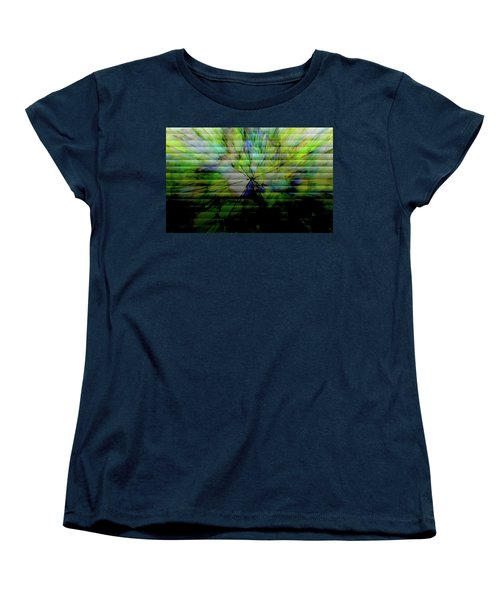 Cracked Abstract Green Women's T-Shirt (Standard Cut) by Carol Crisafi