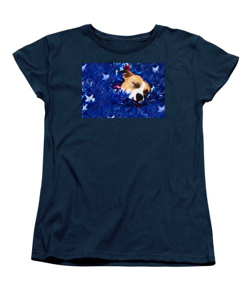Women's T-Shirt (Standard Cut) featuring the photograph Cradled By A Blanket Of Stars And Stripes by Shelley Neff