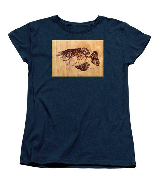 Crappie Women's T-Shirt (Standard Cut) by Ron Haist