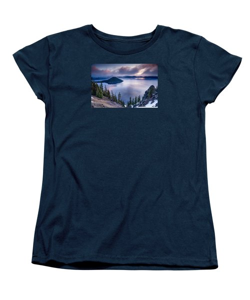 Crater Lake Spring Morning Colors Women's T-Shirt (Standard Cut) by Greg Nyquist