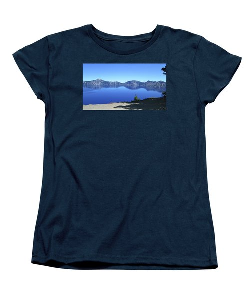 Women's T-Shirt (Standard Cut) featuring the photograph Crater Lake by Tony Mathews