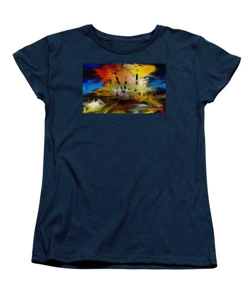 Women's T-Shirt (Standard Cut) featuring the painting Crazy Nature by Rushan Ruzaick