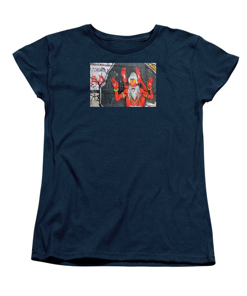 Crazy Yogi, Rishikesh Women's T-Shirt (Standard Cut) by Jennifer Mazzucco