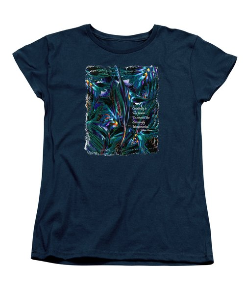 Creativity Is Quote William Plomer  Women's T-Shirt (Standard Cut) by Michele Avanti