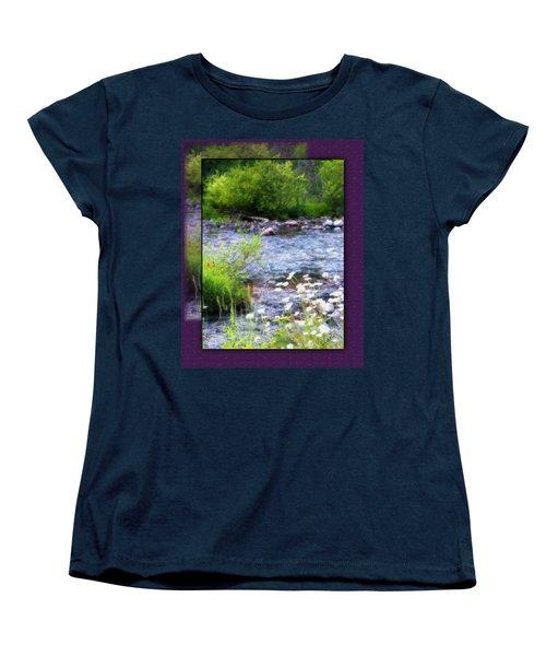 Women's T-Shirt (Standard Cut) featuring the photograph Creek Daisys by Susan Kinney