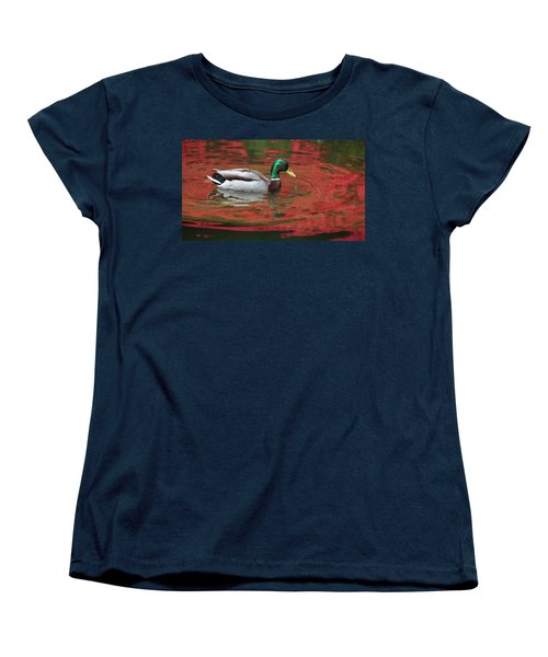 Crimson Reflections Women's T-Shirt (Standard Cut) by Elvira Butler