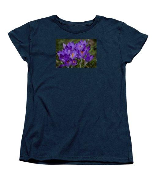 Crocus Cluster Women's T-Shirt (Standard Cut) by Shirley Mitchell