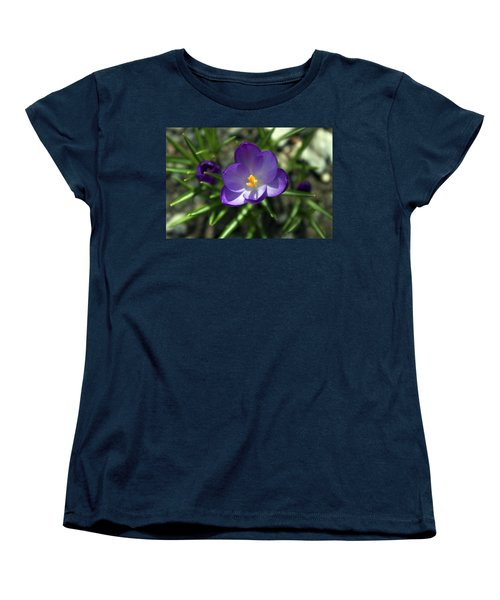 Crocus In Bloom #1 Women's T-Shirt (Standard Cut) by Jeff Severson