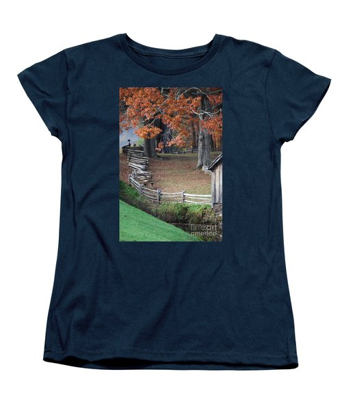 Crooked Fence Women's T-Shirt (Standard Cut) by Eric Liller