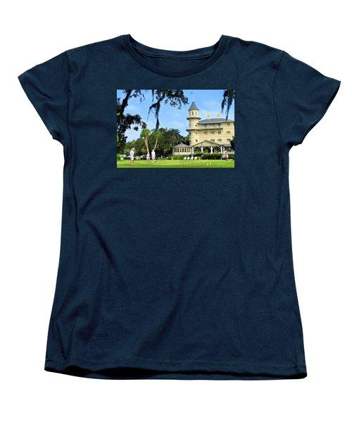 Croquet Anyone? Women's T-Shirt (Standard Cut) by Laura Ragland