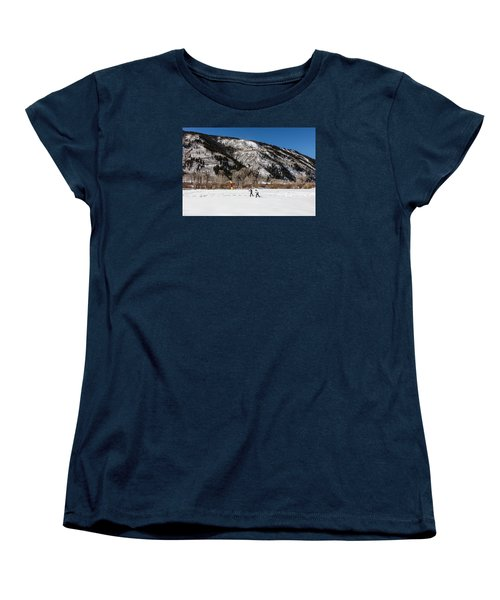 Cross-county Skiers Outside Aspen Women's T-Shirt (Standard Cut) by Carol M Highsmith