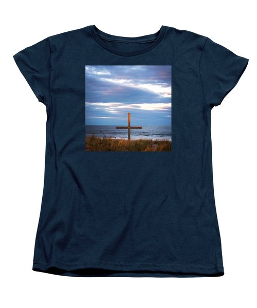 Cross Light Square Women's T-Shirt (Standard Cut) by Terry DeLuco
