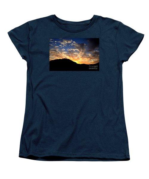 Cross On A Hill Women's T-Shirt (Standard Cut) by Sharon Soberon