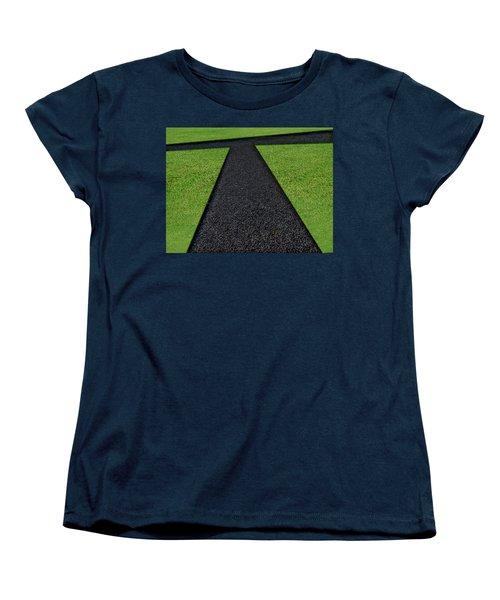 Women's T-Shirt (Standard Cut) featuring the photograph Cross Roads by Paul Wear