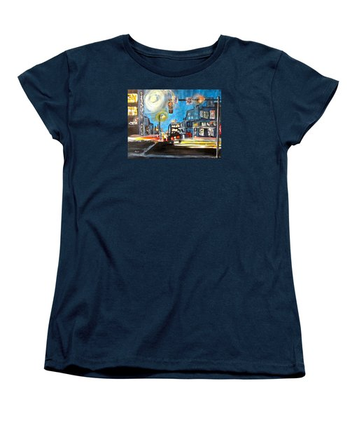 Cross Traffic Women's T-Shirt (Standard Cut) by Barbara O'Toole