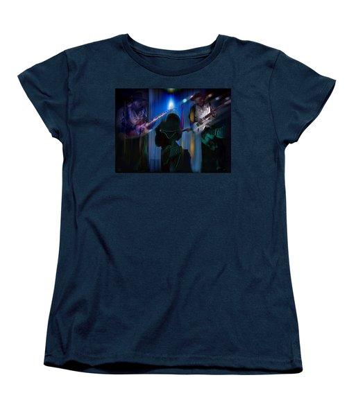 Crossfire Women's T-Shirt (Standard Cut) by Glenn Feron