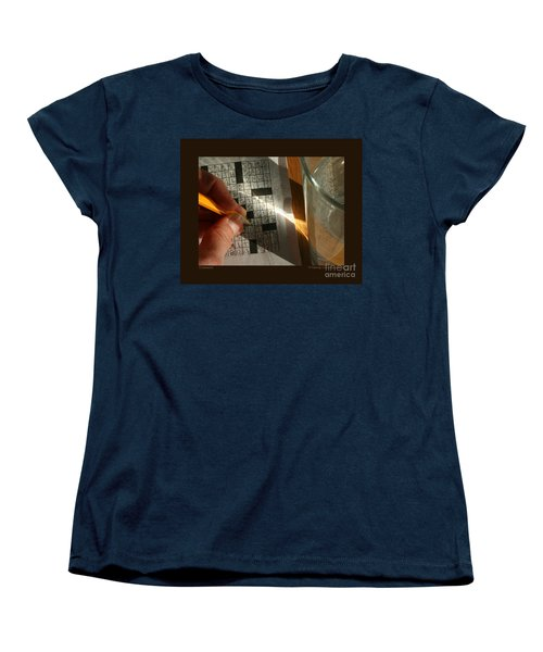Women's T-Shirt (Standard Cut) featuring the photograph Crossword by Patricia Overmoyer