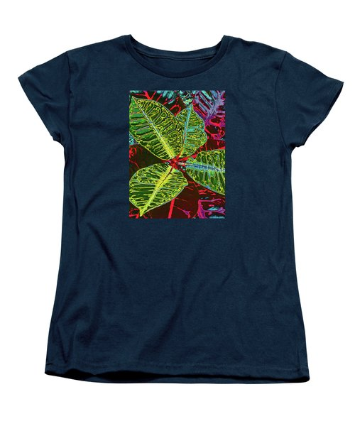 Women's T-Shirt (Standard Cut) featuring the photograph Croton - Deep Green by Kerri Ligatich
