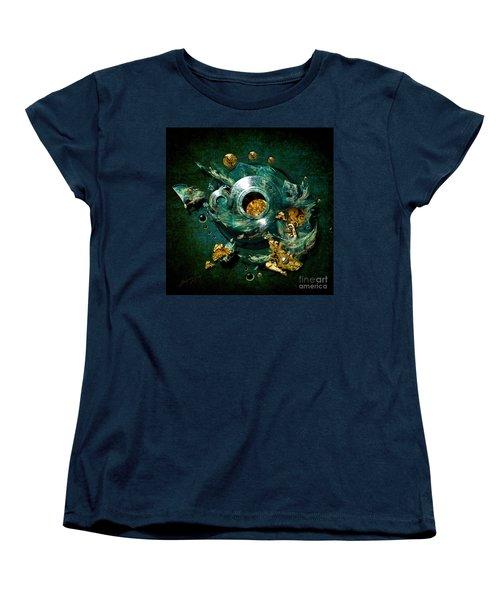 Women's T-Shirt (Standard Cut) featuring the painting Crucible by Alexa Szlavics