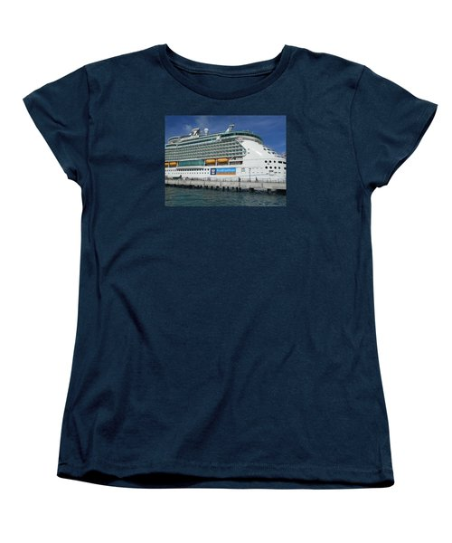 Cruise Ship Women's T-Shirt (Standard Cut) by Kathleen Peck