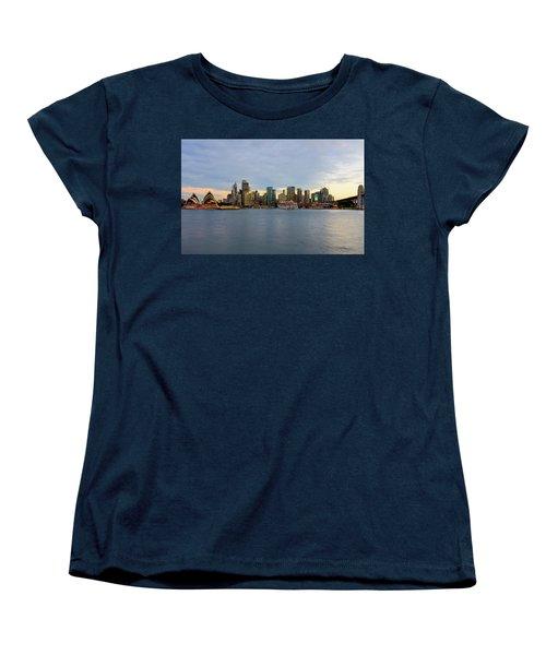 Cruiseship Sunset Women's T-Shirt (Standard Cut) by Petar Belobrajdic