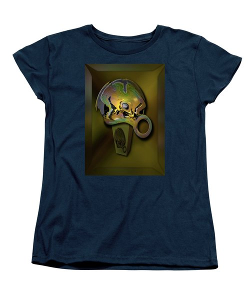 Women's T-Shirt (Standard Cut) featuring the digital art Crushing Affinity by Steve Sperry