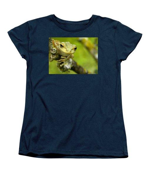 Cuban Tree Frog 000 Women's T-Shirt (Standard Cut) by Chris Mercer